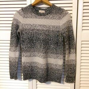 LOFT Gray Striped Sweater